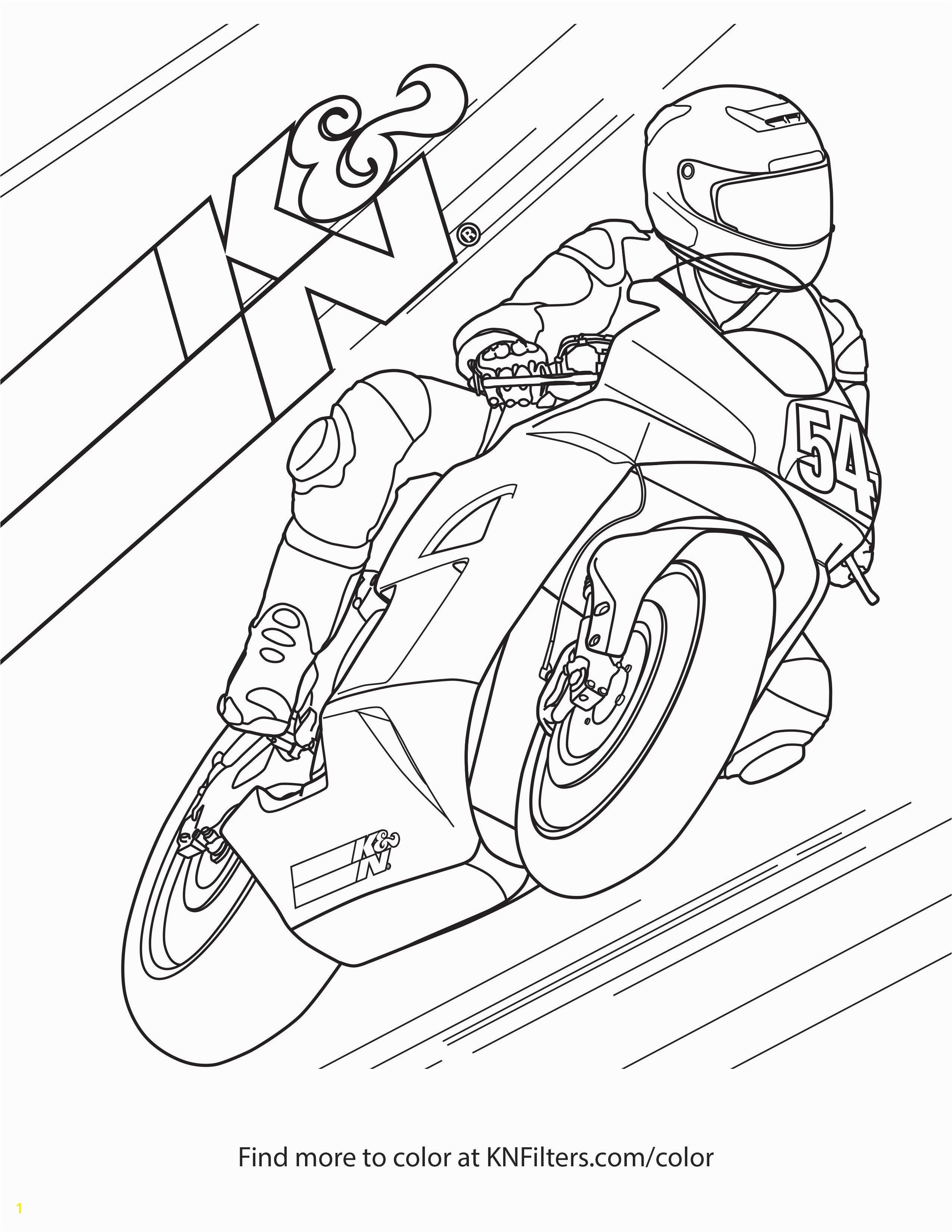Sport Bike K&N Printable Coloring Page