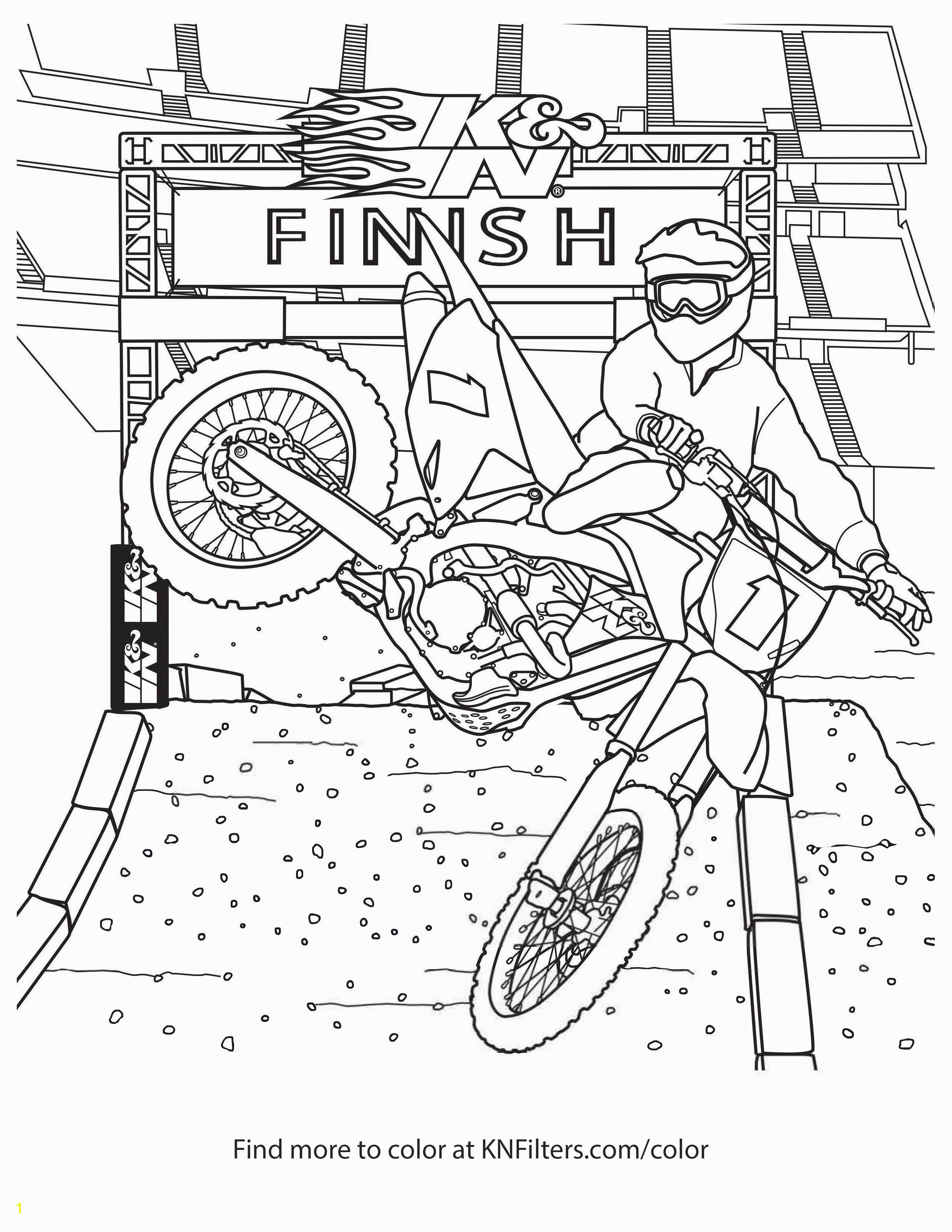 Honda Dirt Bike Coloring Pages K&n Printable Coloring Pages for Kids