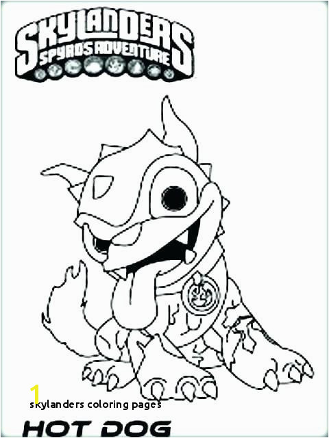 Skylanders Coloring Pages Skylanders Giants Coloring Pages Best O D Colouring Fun Time Hot Dog