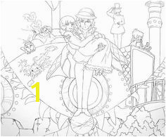 Howl s Moving Castle Coloring Pages