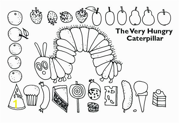 hungry caterpillar coloring pages revealing hungry caterpillar coloring pages ideas new the very hungry caterpillar food