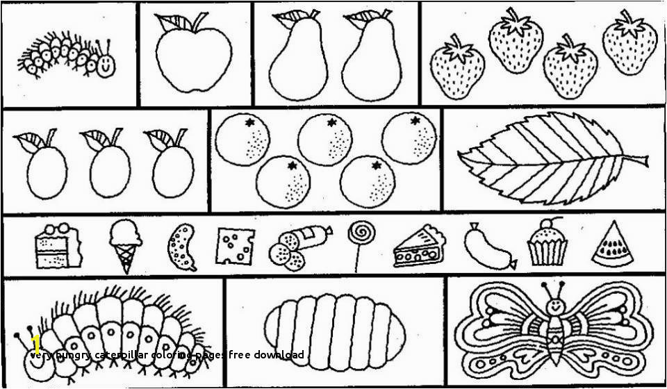 Very Hungry Caterpillar Coloring Pages Free Download Very Hungry Caterpillar Coloring Pages Very Hungry Caterpillar