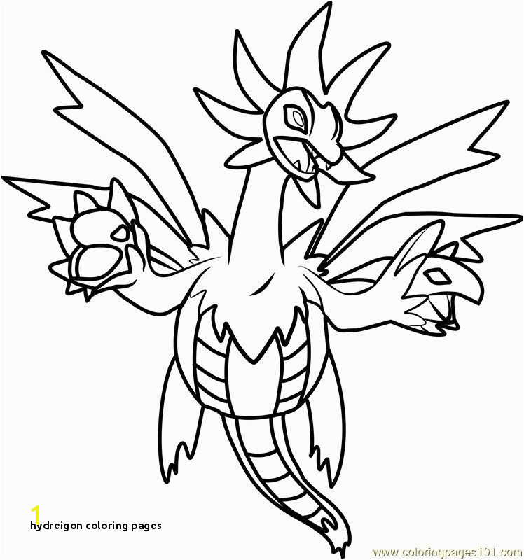 Hydreigon Coloring Pages Inspirational Hydreigon Coloring Pages
