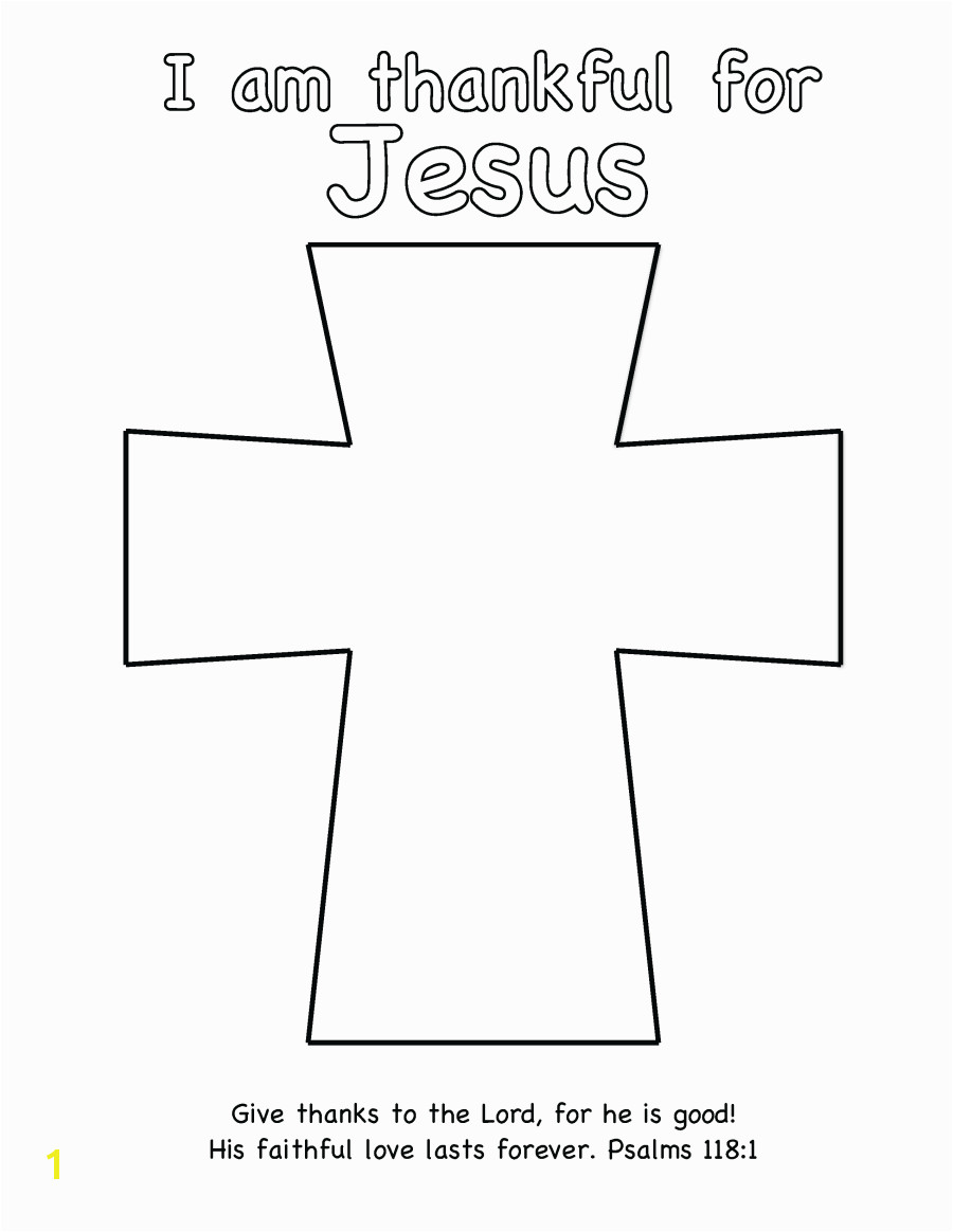 Cross Template Coloring Page