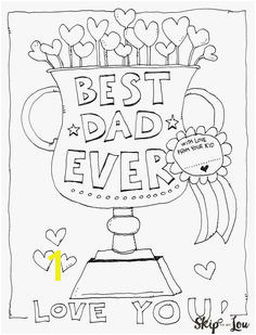Dad Coloring Page for the BEST Dad