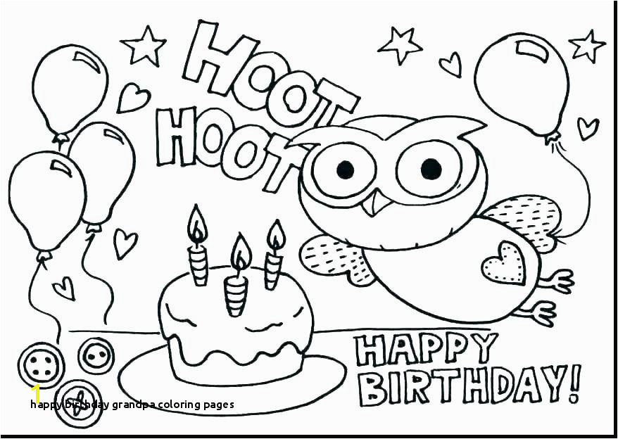 24 Happy Birthday Grandpa Coloring Pages