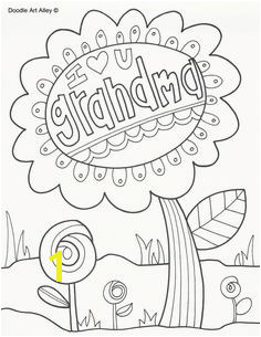 Grandparents Day Coloring Pages Doodle Art Alley Grandma