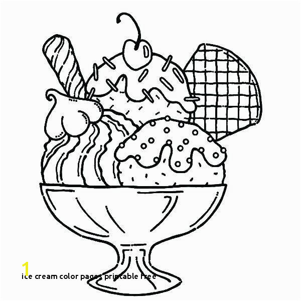 Ice Cream Color Pages Printable Free 30 Elegant Ice Cream Cone Coloring Page Ideas