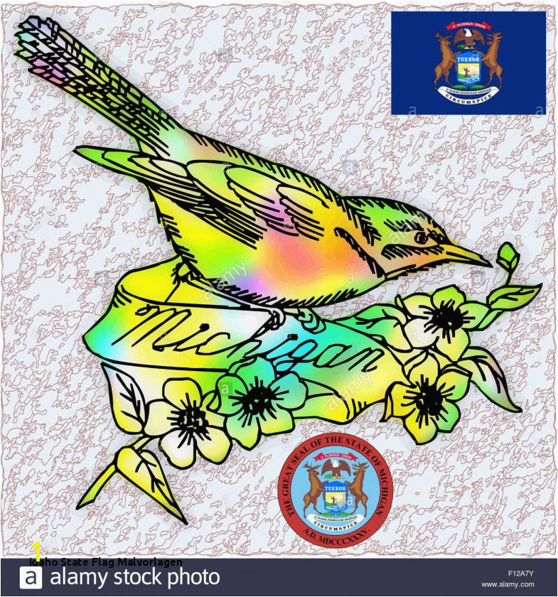 Idaho State Bird Coloring Page Idaho State Flag Malvorlagen Best Idaho State Bird Coloring Page