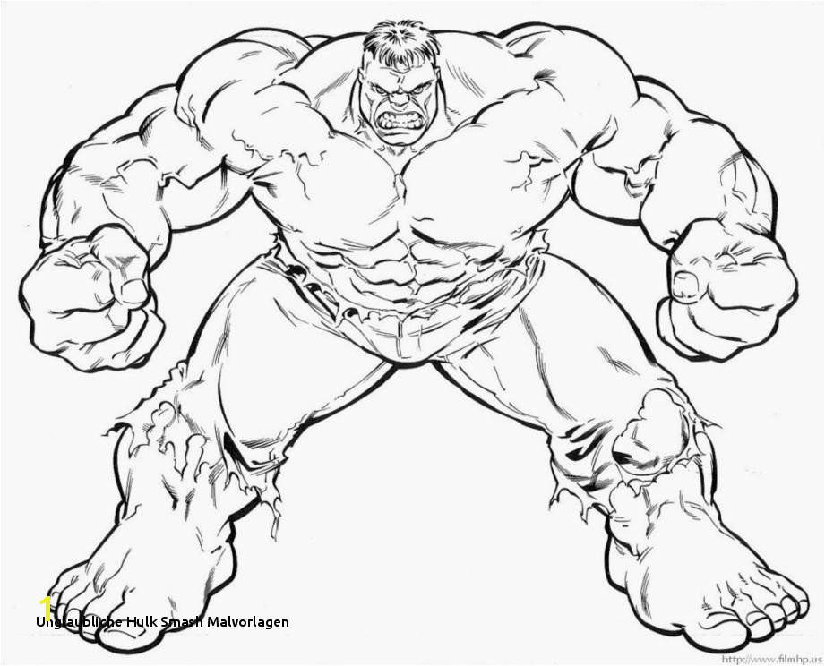 Incredible Hulk Coloring Pages to Print 26 Unglaubliche Hulk Smash Malvorlagen