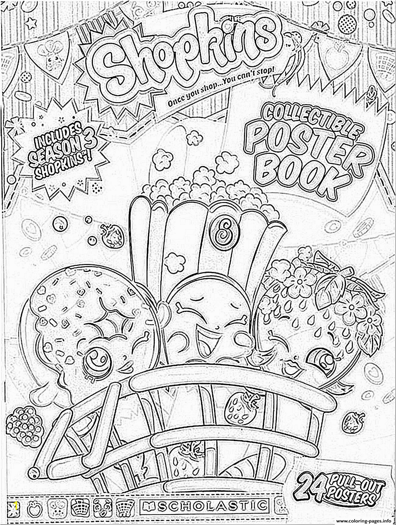 Coloring Pages Fall Printable Awesome Print Shopkins Season 3 Book Coloring Pages Kids Best Coloring