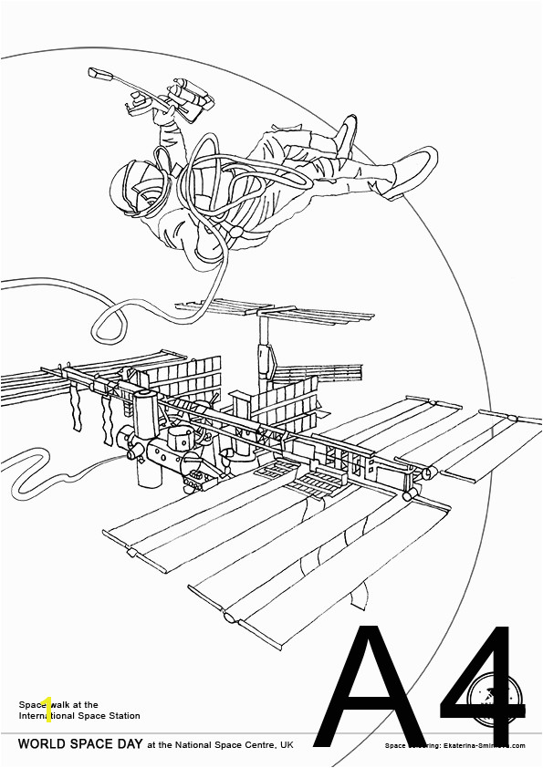 International Space Station Coloring Page 17