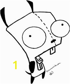 Invader Zim Coloring Page Coloring Home