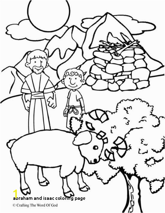 Abraham fers Isaac Coloring Page Coloring pages are a great way