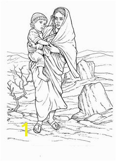 hagar and ishmael coloring page Google Search Bible Coloring Pages Coloring Sheets Coloring