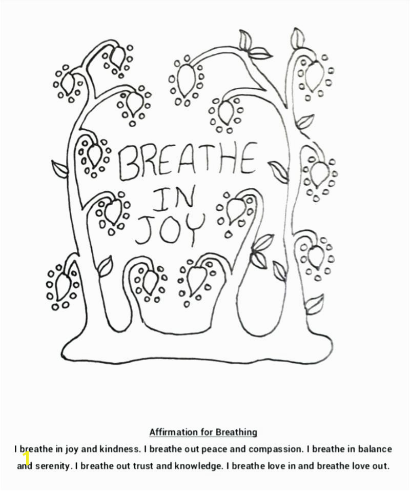 Coloring Pages Joy Coloring Page Breathing In And Affirmation Individual Empowerment Ivy Pages