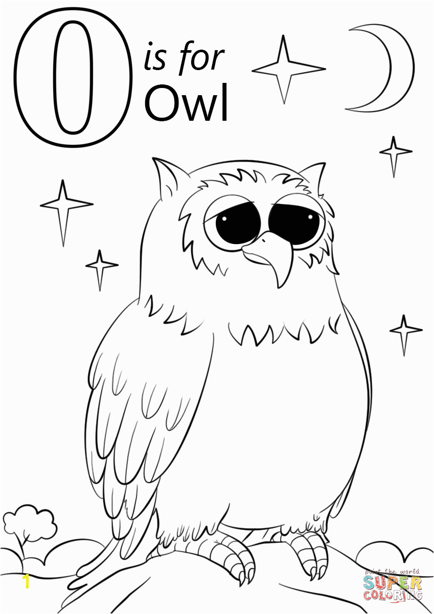 letter o is for owl coloring page free printable coloring pagesclick the letter o is for