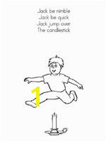Jack Be Nimble Printable Booklet