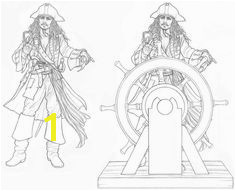 Jack Sparrow Coloring Page 394 Best Hide the Rum Images