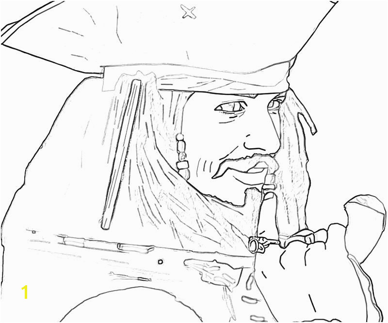 printable jack sparrow funny coloring pages 6