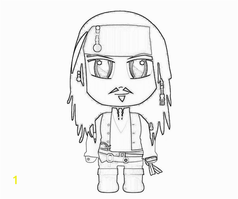 Jack Sparrow Funny Coloring Pages