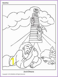 Two Coloring Pages Jacob and the Angels Bible Crafts For Kids Preschool Bible