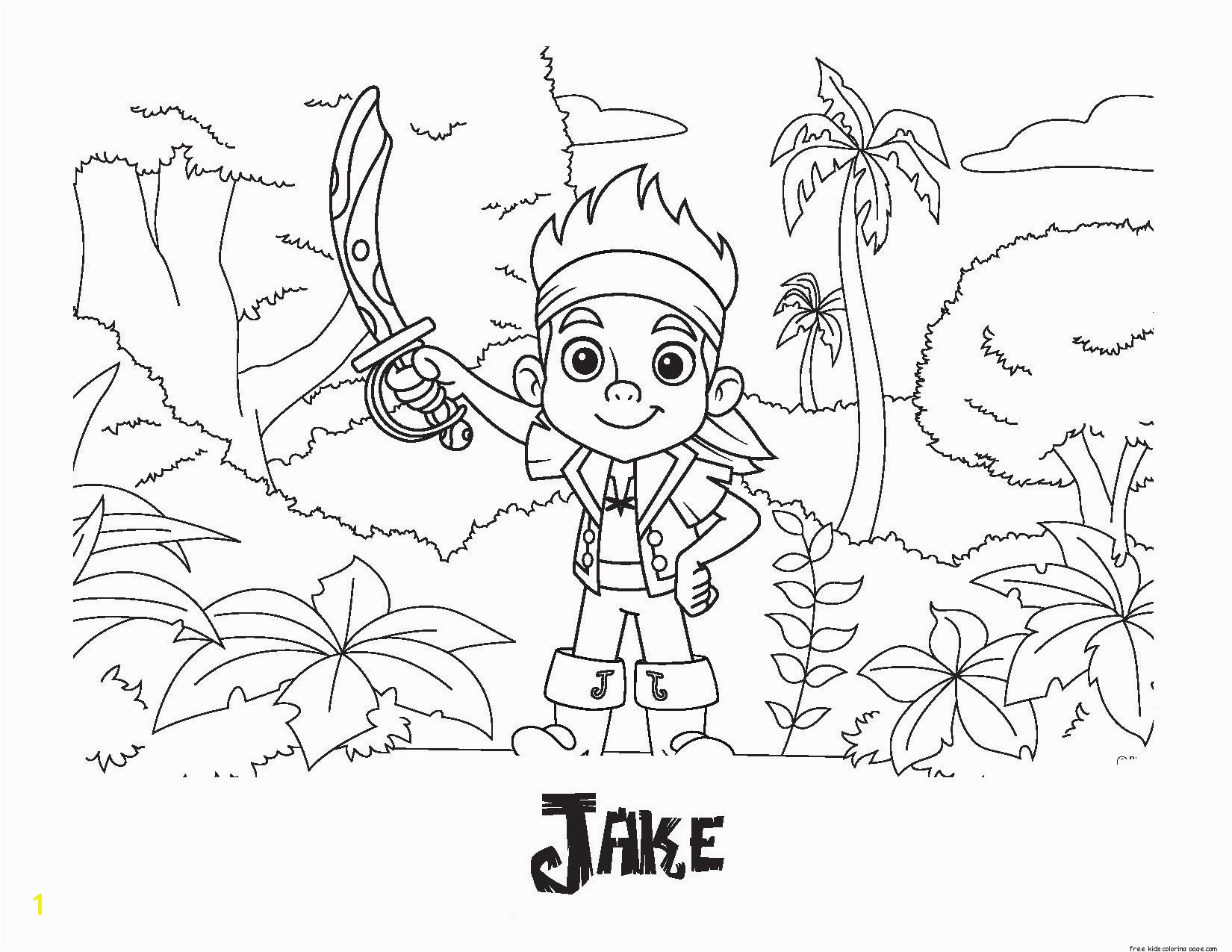 Jake and the Neverland Pirates Coloring Pages Pdf Jake and the Neverland Pirates Coloring Pages to Print Coloring
