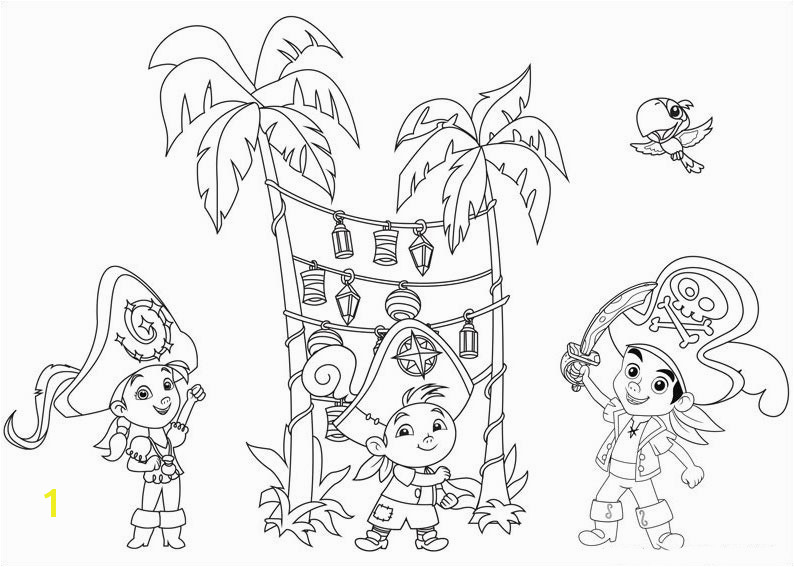 Captain Hook Coloring Pages Unique Jake and the Never Land Pirates Coloring Pages Captain Hook