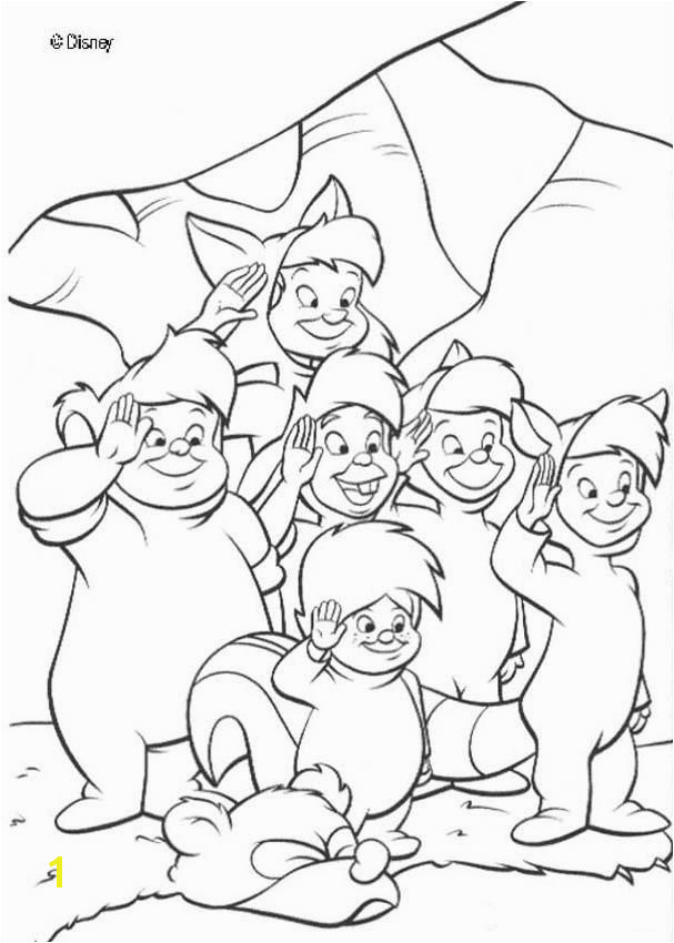 Peter Pan is a famous Disney movie Discover this coloring page of Peter Pan Lost boys A nice drawing for disney lovers