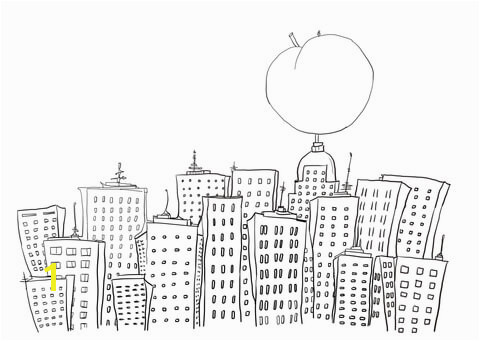 James and the Giant Peach Coloring Page James and the Giant Peach In New York Coloring Page