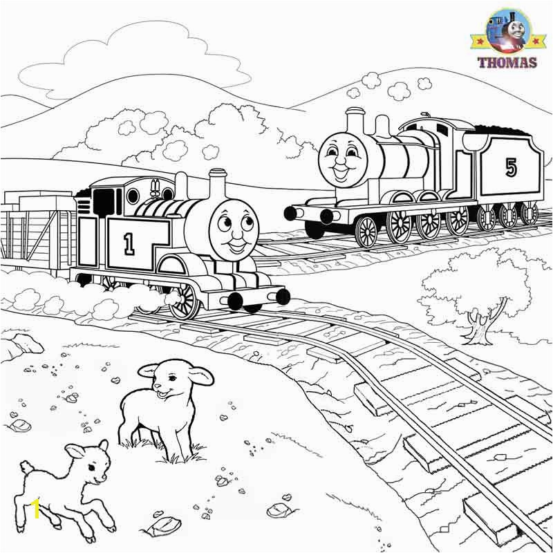 Sodor railroad train James Thomas the tank engine coloring pictures to color and print out for