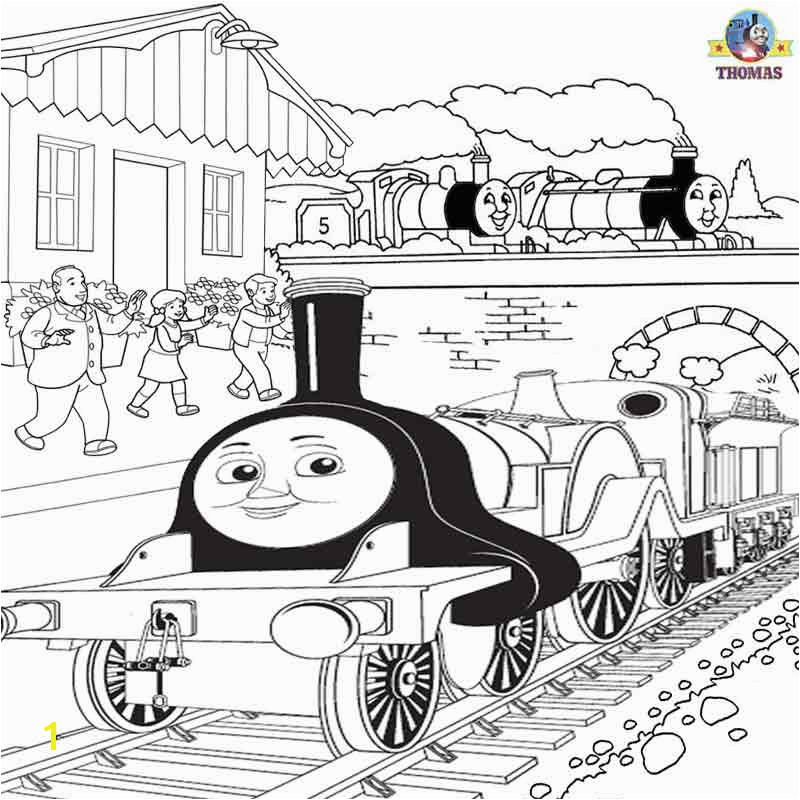 Gordon James Emily the train coloring pages early childhood development summer activities for kids
