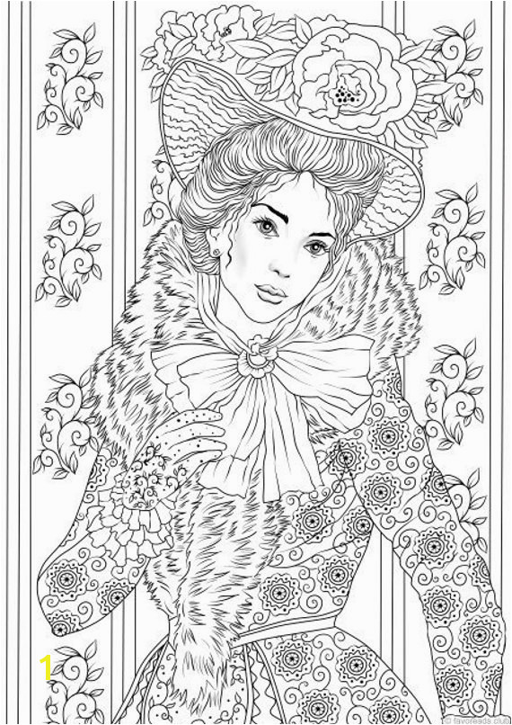 Fancy Outfit Printable Adult Coloring Page from Favoreads Coloring book pages for adults and kids