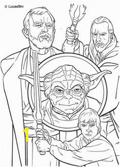 Jedi knights and Yoda coloring page Star Wars Coloring Book Disney Coloring Pages Coloring