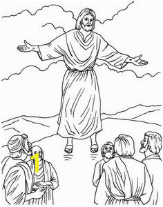 Image Detail for Jesus Christ ascension coloring pages and line art drawing images Bible Story
