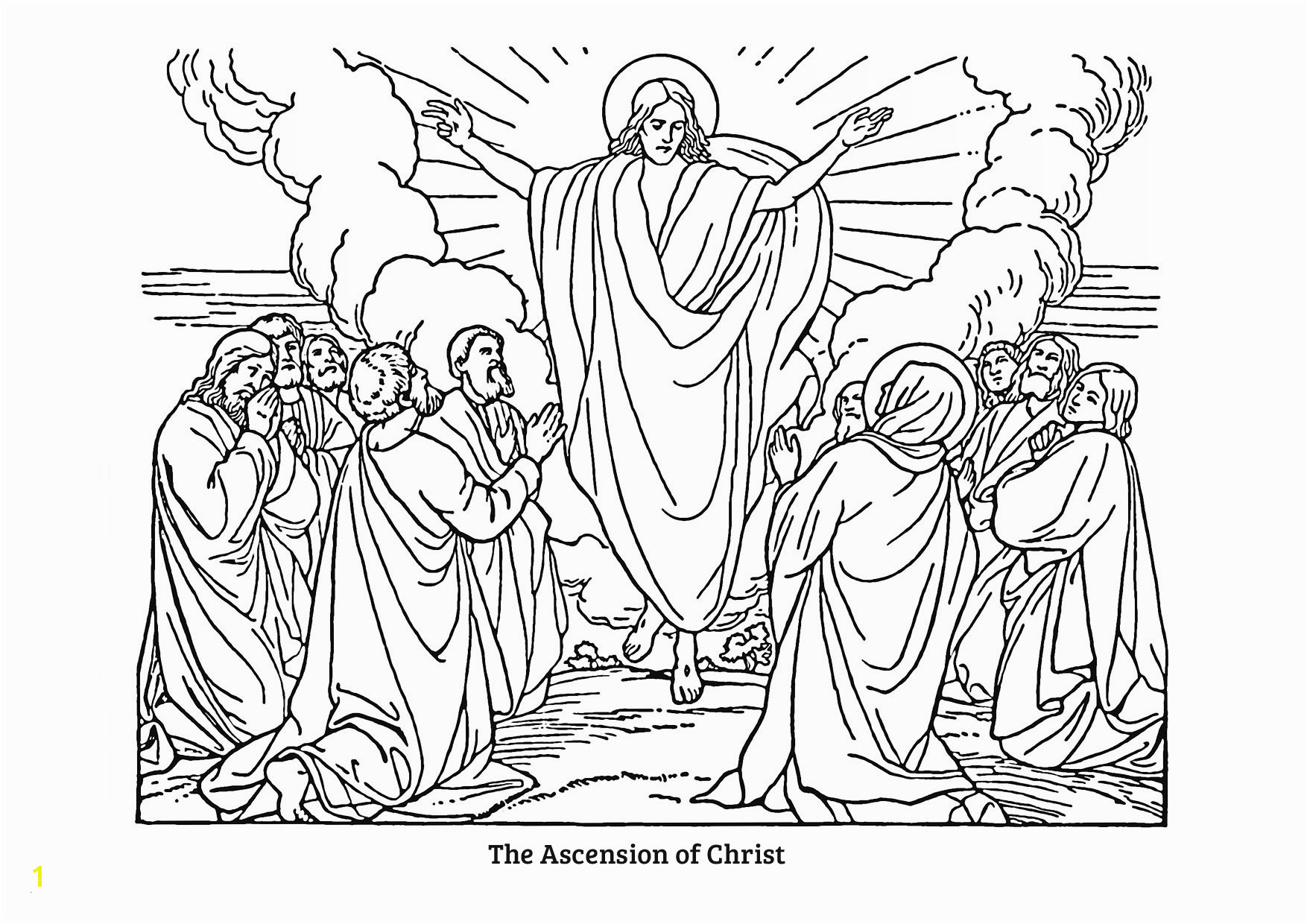 Ascension Coloring Page Jesus ascension Coloring Pages Awesome Jesus ascension Coloring