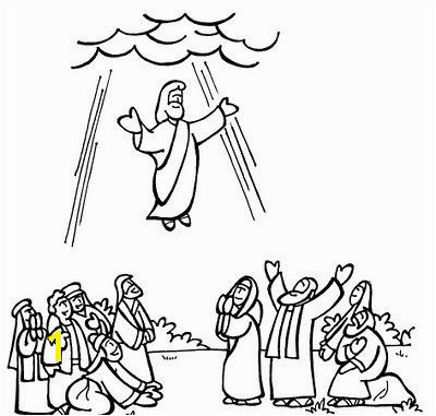 Easter Bible Coloring Pages Beautiful Jesus ascension Coloring Pages Cartoon Od Jesus Disciples Coloring