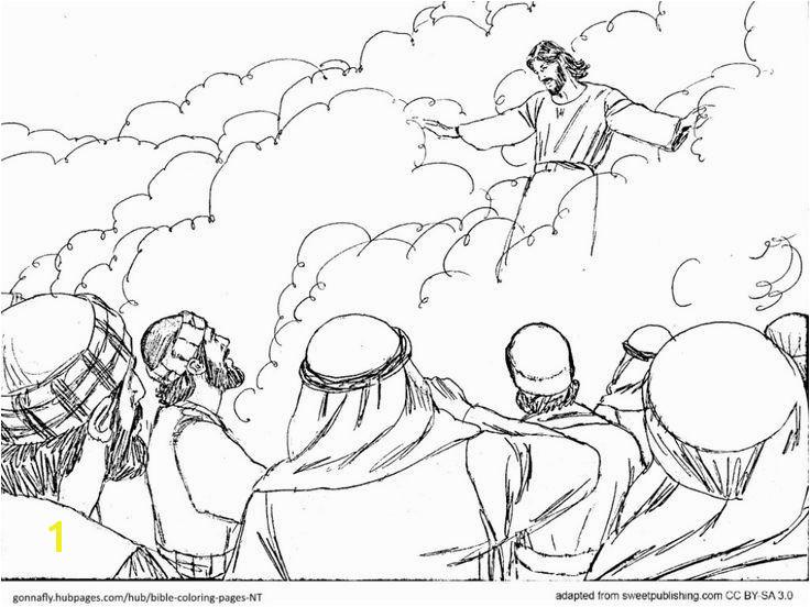 Jesus ascension Coloring Page Unique Jesus ascension Coloring Pages Cartoon Od Jesus Disciples Coloring Jesus