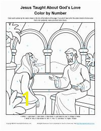 Jesus Taught About God Color By Number Page Bible Activities For Kids Preschool Bible