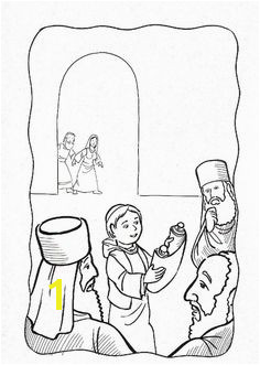 Jesus reasoned with the rabbis in the Temple Bible coloring page