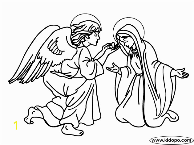 Angel Gabriel Appears To Mary Kids Coloring Coloring Pages For Kids Free Angel