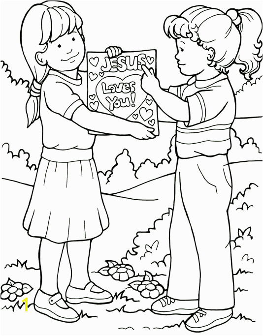 the Great mission Coloring Page Jesus loves me