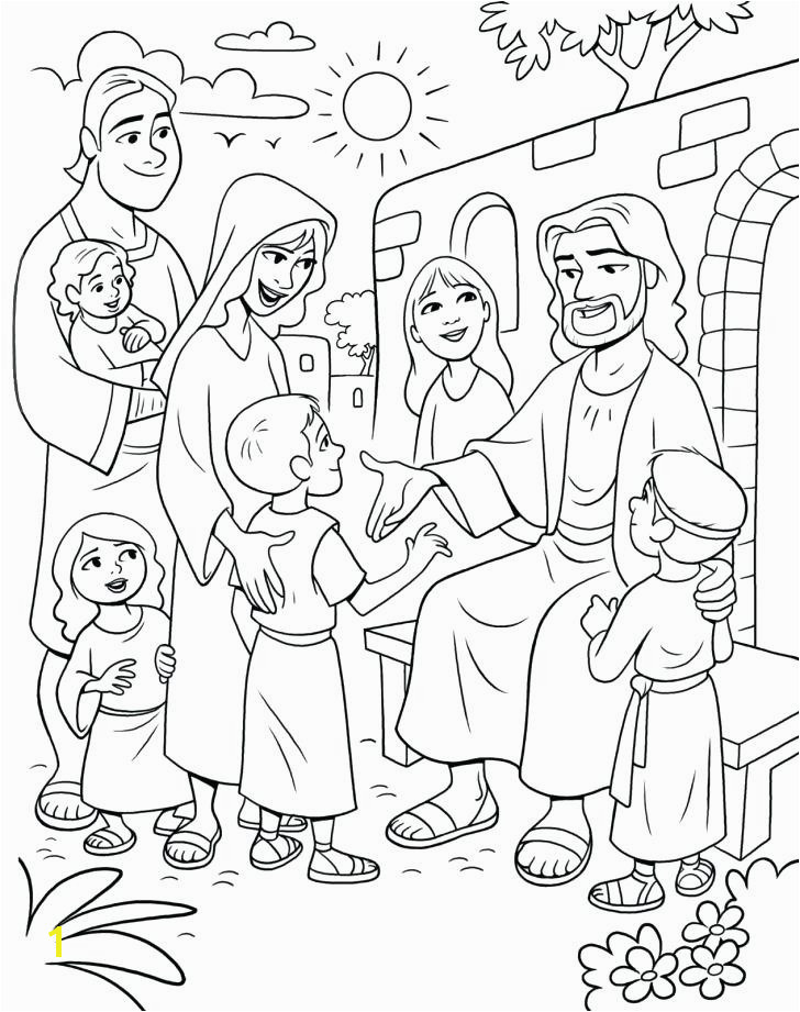 Jesus Birth Coloring Pages Luxury Jesus Feeds 5000 Coloring Pages as Unique Meeting the Children