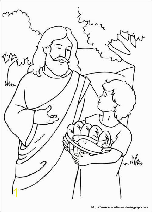 47 Best Bible Jesus Feeds 5000 Pinterest 20 lovely jesus feeds 5000 coloring page