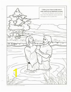 Primary 2 Lesson Manual Lesson 12 I Can Prepare for Baptism I should mention that I Lds Coloring PagesColoring