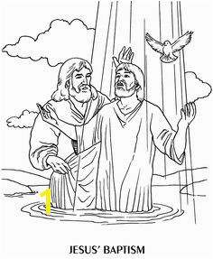 Jesus baptism Wallpapers and Coloring pages
