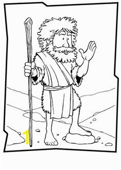 John Jesus and John the Baptist John the Baptist Coloring Page
