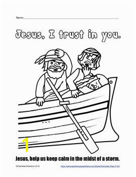 Free Jesus Asleep in the Boat Printable from Charlotte s Clips Religious Education Pinterest