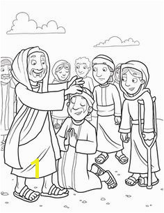 Matthew Mark Luke Jesus Cleansed a Leper Jesus Healed Leper Coloring Page