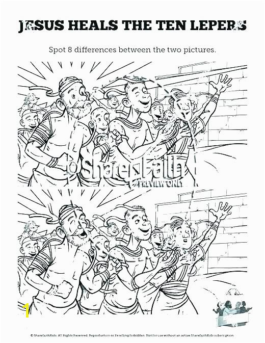 peaceful ten lepers coloring page u3626 peaceful jesus heals 10 lepers coloring sheet authentic heals a